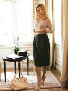 Burdastyle Pleated Midi Skirt